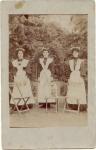 EDWARDIAN MAIDS & DOG STEWPONEY HOTEL STOURBRIDGE  Postal date1905