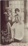 Lady and Maid Greetingscard