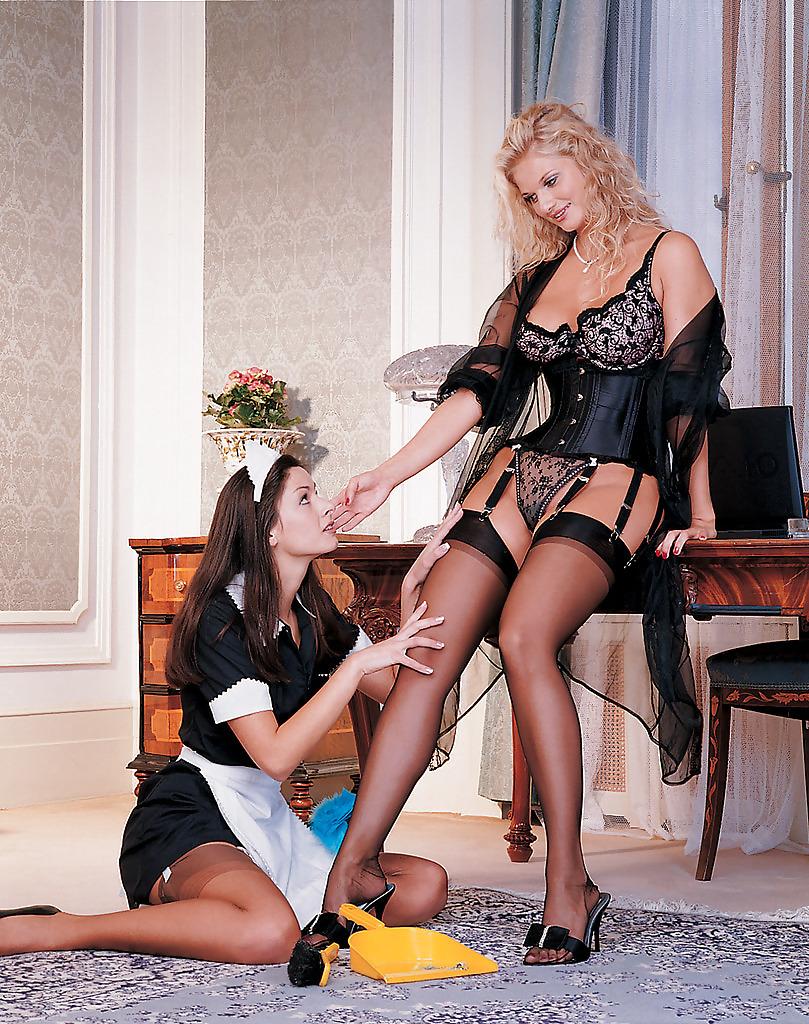 точно-совсем лесбиянки хозяйки и служанки всё будет