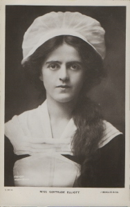 "Gertrude Elliott as ""Peggy"" in ""Mice and Men"" 1902 (J. Beagles 341 H)"