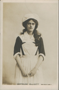 "Gertrude Elliott as ""Peggy"" in ""Mice and Men"" 1902 (Rotary 237 A)"