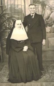 Nun with Father 1948