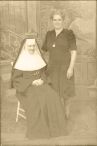 Nun with Mother 1948