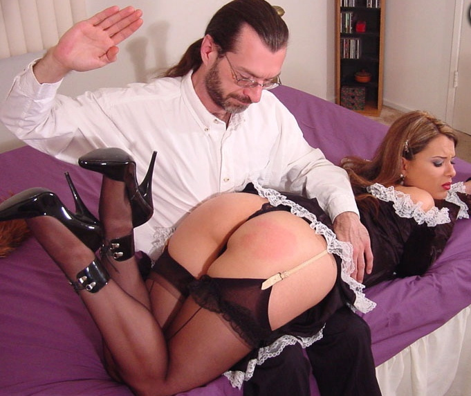 Spanking French Maid
