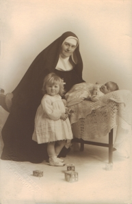 Nun with children - c1950