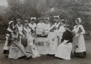 Young girls cooking - House Maid School - c1890s