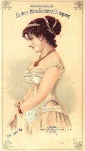 1880's CORSET FASHION ADVERTISING POSTER BORTREE CO