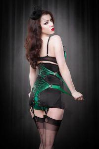 Fan-laced corset