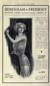 Corset Advertisement - The Stage Year Book - 1910