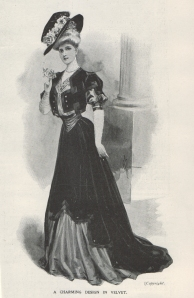 A design in Velvet - The Sketch - 17th January 1906