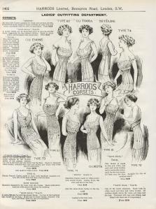 Harrods Corset Advert - 1912