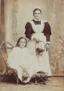 Edwardian Maid and child