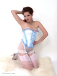 Lucy V - Blue corset 6