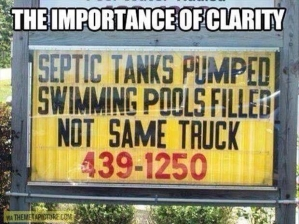 The importance of clarity