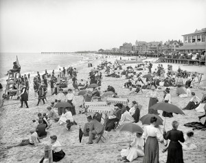 A day at the seaside, The Jersey shore circa 1905.