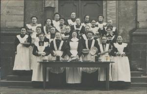 Nun and maids c1900