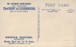 The Count of Luxembourge – Leicester 4th March 1912(back)