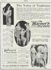 Warner Corset Advertisement - The Sketch - 1st March 1922