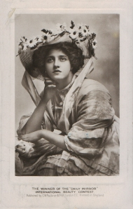 The winner of the Daily Mirror International Beauty Contest (C. W. Faulkner Ltd.)