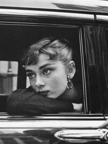 "Audrey Hepburn. During the filming of ""Sabrina"". New York City. 1954."
