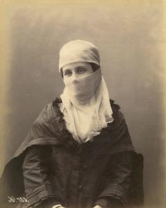 Veiled Ottoman woman - 1875