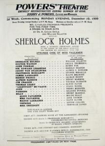 Maude Fealy as Alice Faulkner - Sherlock Holmes - December 1900