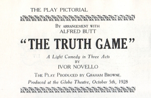 The Truth Game - 5th October 1928