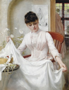 The Wedding Dress - Thomas Benjamin Kennington (1889)