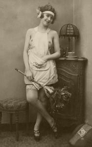 Playful maid