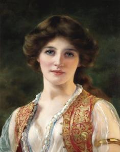 William Clarke Wontner (1857 - 1930) - An Eastern beauty