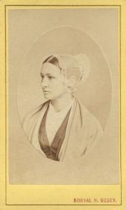 CDV Photo Quaker Woman With Bonnet Norval Busey Studio Baltimore MD