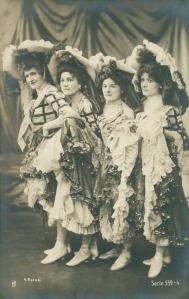 CANCAN Dancers  c1900s