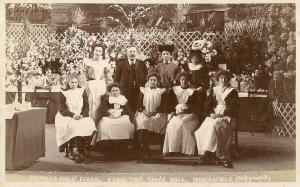 Huddersfield Crippled Girls Floral Exhibition at the Town Hall c 1900