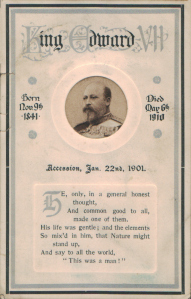 King Edward VII - Memorium Card (C. W. Faulkner & Co 943)
