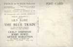 Lily Elsie – The Blue Train – Prince of Wales Theatre – 1927. reverse