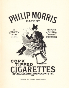 Philip Morris Patent Cork Tipped Cigarettes 1895 - Linley Sambourne