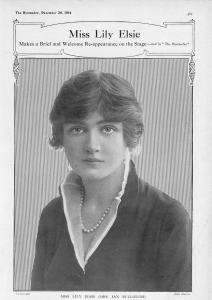 Lily Elsie - The Bystander - 30th December 1914