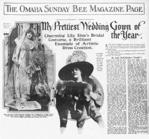 Lily Elsie Omaha Sunday Bee - 10th December 1911,