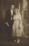 Wedding couple, possibly French dated 1921(Delorme)