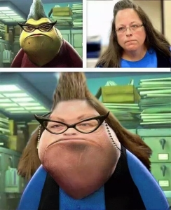 Kim Davis gets her own Disney Pixar character.