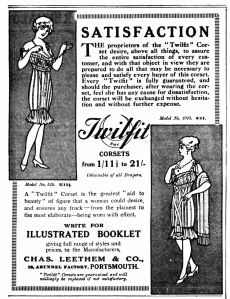 Twilfit Corsets - Daily Mirror - 6th March 1915
