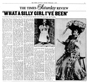 Marie Lloyd - The Times - Saturday 7th February 1970