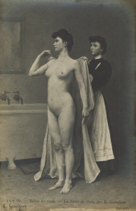 Leaving the bath - E Grandjean No 1207