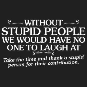 Thank you stupid people