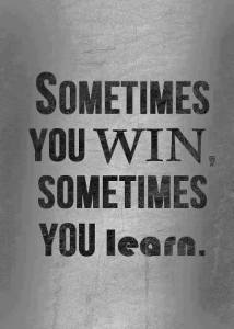 Sometimes we win