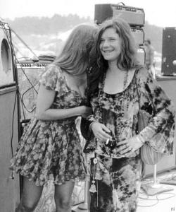 Michelle Phillips with Janis Joplin