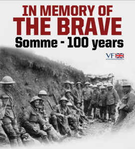 In memory of the Battle of the Somme