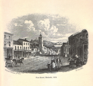Fore Street, Redruth, 1885 - Mitchell, F. (1978) Annals of an Ancient Cornish Town
