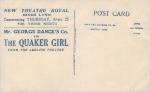 The Quaker Girl – New Theatre Royal, Kings Lynn – 23 Apil 1914.(back)pg