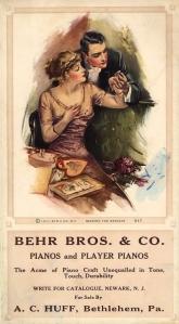 1911 Victorian Blotter Back Trade Card Behr Bros. Co